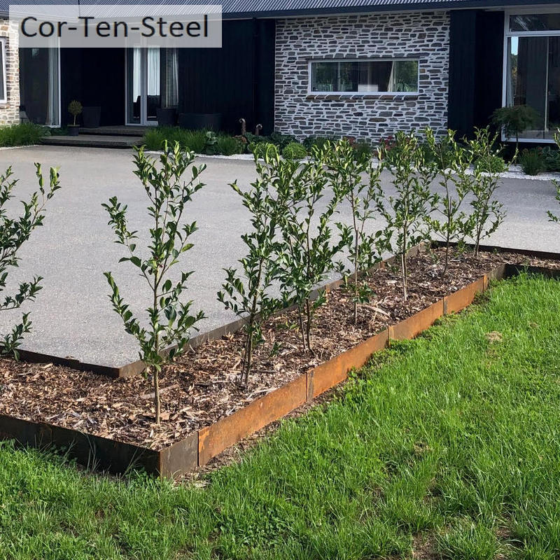 corten square garden edges